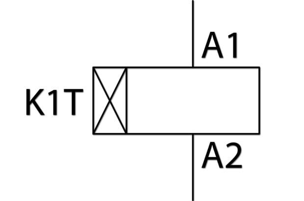 دیاگرام الکتریکی تایمر تاخیر در وصل