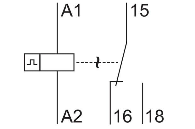 دیاگرام الکتریکی تایمرها، دیاگرام تایمر تکرار مکننده