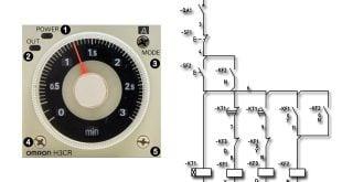 راه اندازی الکتروموتور با تایمر